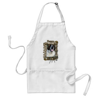 Fathers Day DAD - Stone Paws - St Bernard - Mae Adult Apron