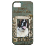 Fathers Day DAD - Stone Paws - St Bernard - Mae iPhone 5 Covers