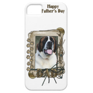 Fathers Day DAD - Stone Paws - St Bernard - Mae iPhone SE/5/5s Case