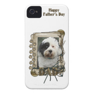 Fathers Day DAD - Stone Paws - Tibetan Terrier Case-Mate iPhone 4 Case