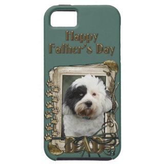 Fathers Day DAD - Stone Paws - Tibetan Terrier iPhone SE/5/5s Case