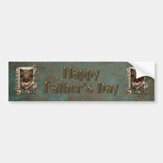 Fathers Day DAD - Stone Paws - Vallhund Bumper Sticker