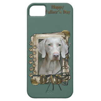 Fathers Day DAD - Stone Paws - Weimaraner iPhone SE/5/5s Case