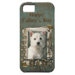 Fathers Day DAD - Stone Paws - Westie iPhone 5 Case