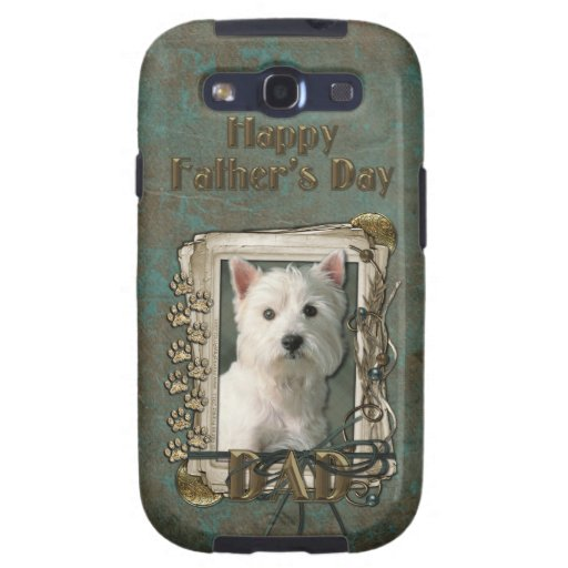 Fathers Day DAD - Stone Paws - Westie Samsung Galaxy S3 Cover