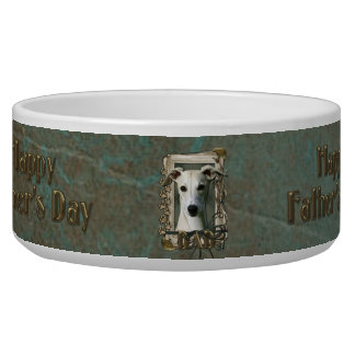 Fathers Day DAD - Stone Paws - Whippet Bowl