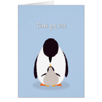Father's Day Dad, Thank You Penguins Greeting Card