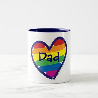 Father's Day Dad Two-Tone Coffee Mug