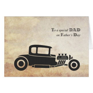 Father's Day, Dad, Vintage Car Card