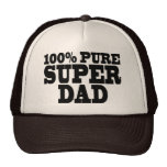 Fathers Day & Dads Birthdays : 100% Pure Super Dad Trucker Hats