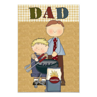 Father's Day, Dad's day Card or Party invitation