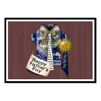 Father's Day - Dads Earth Shirt on Barn Background Business Card Templates