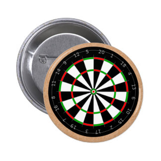 Father's Day Dart Board World's Best Dad Pinback Button