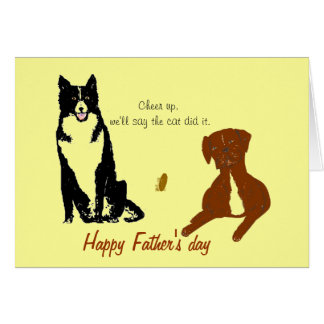 Father's Day Dog card, funny. Card