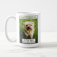 Father's Day Dog Dad Greatest Best Ever Pet Photo Coffee Mug