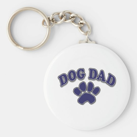 Father's Day dog Dad Keychain