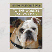 Father's Day Dog Dad with Custom Photo Card