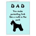Fathers Day Dog Greeting Card