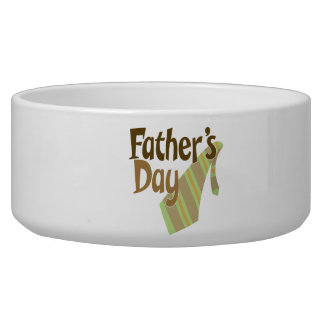 Fathers Day Dog Water Bowl