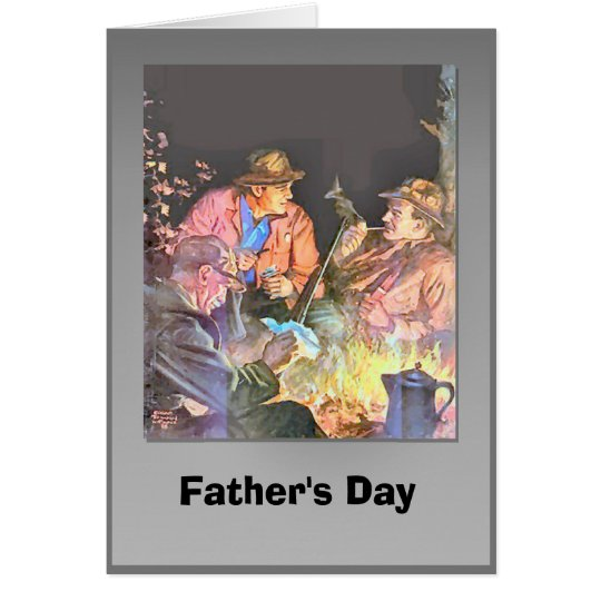 Father's day - Evening with friends Card