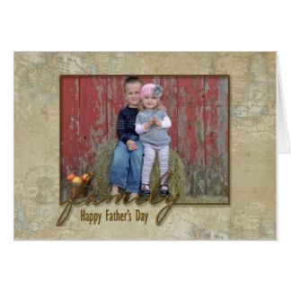 Father's Day Family Foto Card