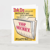 """Father's Day """"Feature"""" Greeting Card"""