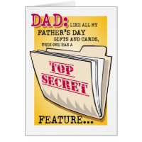 "Father's Day ""Feature"" (Special Price!) Greeting Card"