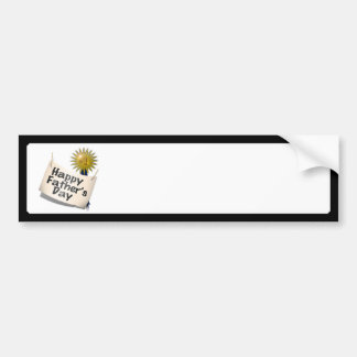 Father's Day First  Place Blue Ribbon For Any Dad Car Bumper Sticker