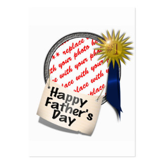Father's Day First  Place Blue Ribbon For Any Dad Business Card Templates