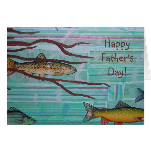 Father 39 s day fish and roots greeting card zazzle for Father s day fishing card