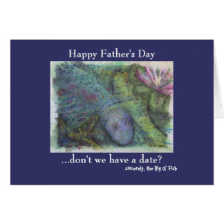 Funny fishing fathers day cards zazzle for Father s day fishing card