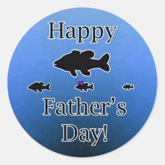 Father's Day Fish Classic Round Sticker