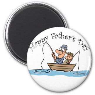 """""""Fathers Day Fishing"""" 2 Inch Round Magnet"""