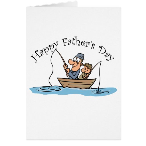 Fathers day fishing card zazzle for Father s day fishing card
