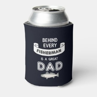 Father's Day Fishing Great Dad Beer Cooler