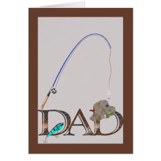 Fathers Day Fishing Greeting Card