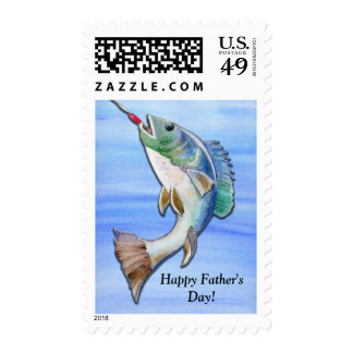 Father's Day Fishing Kind of Dad Stamp