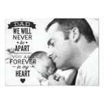 "Father's Day Flat Photo Card - Vintage Typography 5"" X 7"" Invitation Card"