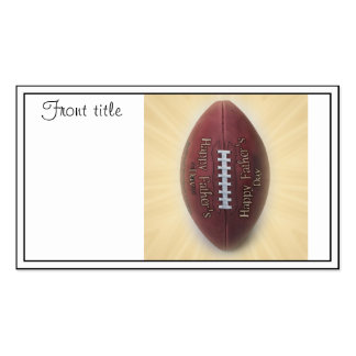 Father's Day Football Business Card