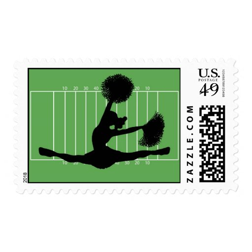 Father's Day Football Cheerleader Postage