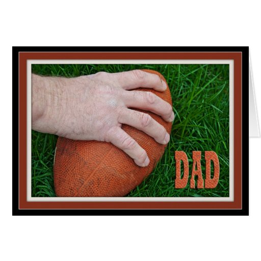 Father's Day Football Greeting Card