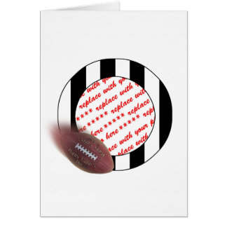 Father's Day Football Referee Frame Card