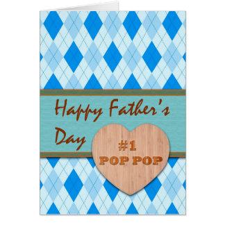 Father's Day for #1 Pop Pop, Argyle Design Card