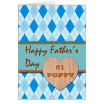 Father's Day for #1 Poppy, Argyle Design Card