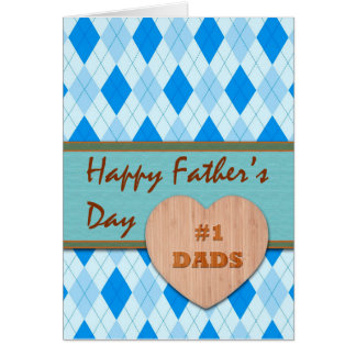 Father's Day for Both of My Dads, Heart, Argyle Card