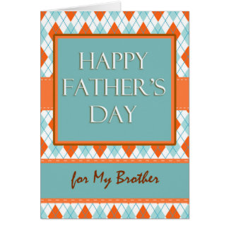 Father's Day for Brother, Argyle Design Card
