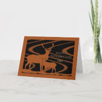 Father's Day for Dad, Deer in Farm Field Card