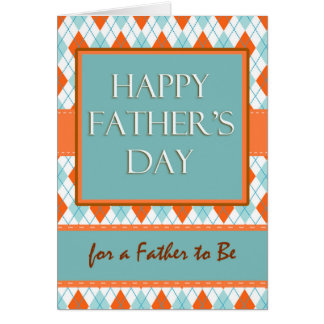 Father's Day for Father to Be, Argyle Design Card