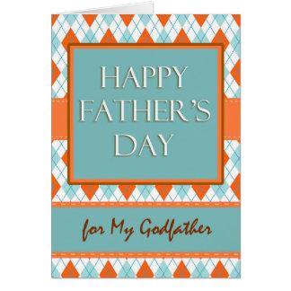 Father's Day for Godfather, Diamond Argyle Design Card