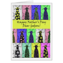 Father's Day for Godson, Shirts and Ties Card